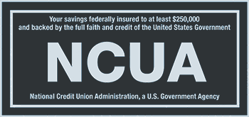 Your savings federally insured to at least $250,000 and backed by the full faith and credit of the United States Government.